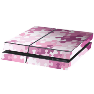 Puzzel Roze Playstation 4 Console Skin